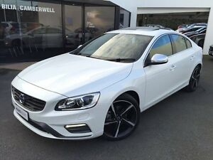 2014 Volvo S60 F Series MY14 T5 PwrShift R-Design Crystal White 6 Speed Sports Automatic Dual Clutch Glen Iris Boroondara Area Preview