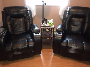 Two motorized recliners