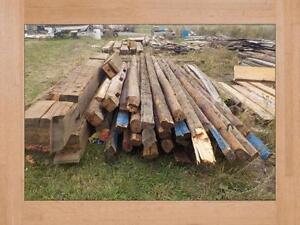 Barn Beams Hand Hewn ,Boards Lumber Ridge Poles Large New Stock