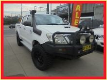 2008 Toyota Hilux KUN26R MY09 SR White 5 Speed Manual 4D Utility Holroyd Parramatta Area Preview