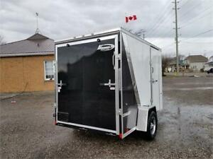 6' x 10' Enclosed Steel Frame Cargo Trailer