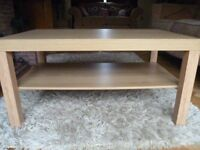 Ikea Oak Coffee Table AS NEW