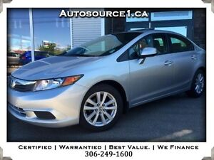 2012 Honda Civic EX sedan Sunroof Certified Warranty