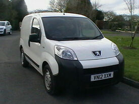 2012 12 REG PEUGEOT BIPPER 1.3HDi DIESEL 75 S VAN IN UNLETTERED WHITE HPI CLEAR
