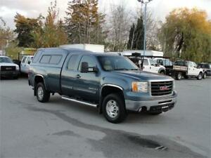 2009 GMC SIERRA 2500HD SLT EXT CAB LONG BOX 4X4 CANOPY LEATHER