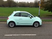 Fiat 500 Lounge 1.2, 2015, smooth mint