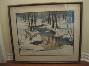 SOLID WOOD FRAMED & MATTED NATURE (SOFA/WALL) PRINT