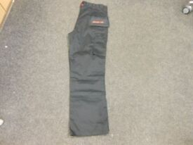 brand new black snap on tools work trousers with flappy pockets 38L