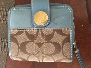 Selling Authentic Blue Coach Wallet and Colourful Coach Wristlet