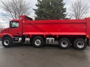 New 2020 Volvo tri-axle dump trucks ready to go.