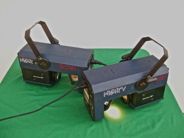 AMERICAN DJ MIGHTY SCAN PROJECTOR LIGHTS ( LOT OF 2 )