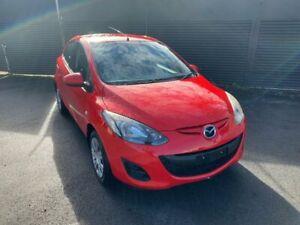 2012 Mazda 2 DE10Y2 MY12 Neo Red 5 Speed Manual Hatchback Invermay Launceston Area Preview