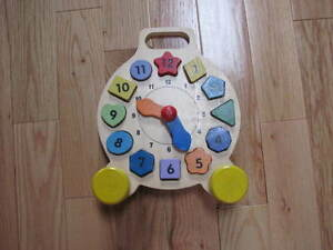 Wooden Shape Sorting  and Learning Clock