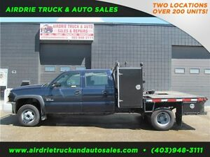 2006 Chevrolet Silverado 3500 4x4 Flat Deck 5th Wheel Diesel!!