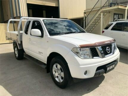 2012 Nissan Navara D40 S6 MY12 ST-X King Cab White 5 Speed Automatic Cab Chassis Greystanes Parramatta Area Preview
