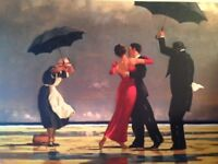 Jack Vettriano Canvas x 2 - The Singing Butler and The Picnic Party