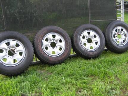 6 STUD 4WD RIMS AND TYRES BARGAIN 7 IN TOTAL Gawler Gawler Area Preview