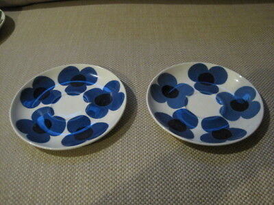 ARABIA AURINKO FINLAND SAUCERS LOT 2 PC