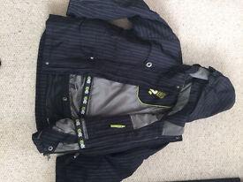 Boys Ski Jacket Navy stripe Surfanic