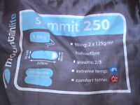 Sleeping bag summit 250, mountainlife, blue/grey in colour