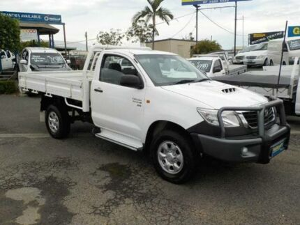 2012 Toyota Hilux KUN26R MY12 SR White 4 Speed Automatic Cab Chassis