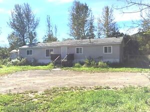 NICE DOUBLE WIDE ON 3.5 ACRES MINUTES FROM TOWN  -  CHETWYND!!
