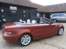 0959 BMW 118 2.0d SE TURBO DIESEL POWER ROOF CONVERTIBLE 1 OWNER 83K FSH SUPERB