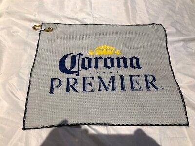 New!  Corona Premier Golf Towel w/ locking Carabiner Pro Towels