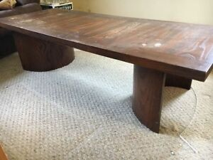 Beautiful solid wood coffee table and end table