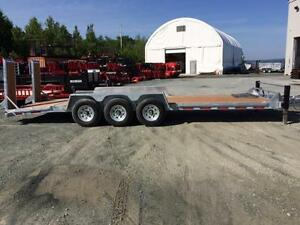 2016 Brimar 24' Tri-Axle Equipment Low Pro Trailer