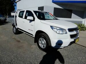 2014 Holden Colorado RG MY14 LX Crew Cab White 6 Speed Sports Automatic Cab Chassis Glendale Lake Macquarie Area Preview