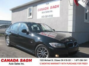 2011 BMW 323i LOADED (6SP) LTHR/ROOF 139km, 12M.WRTY+SAFETY$8990