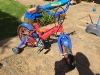 Kids Spiderman Bike with 14inch Wheels - Average Condition