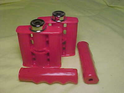 """Elgin Ross Colson Murray Huffy Amf nos Vintage Red 3//8/"""" ID Tricycle Pedals Caps"""