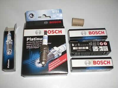 4x Bosch Platinum 6721 Car Truck Spark Plugs FR8HPP30X Dodge Dakota Ram Durango