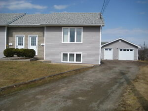Rare find 3 bedroom semi with 22 X 24 garage