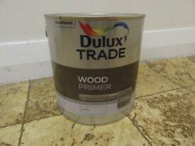 DULUX TRADE WOOD PRIMER , WHITE , 2.5 LITRES , FULL TIN