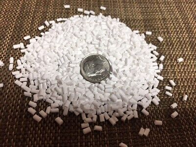Polypropylene Plastic Pellets White Resin 55 Lbs Beads Light-weight
