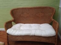 WICKER CONSERVATORY OR PATIO SETTEE