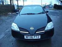 NISSAN PRIMERA 1.8 S 5 DOOR HATCHBACK 06 REG,, IDEAL FAMILY CAR ,, MOT JUNE 2018