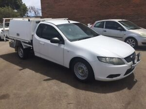 2008 FORD FALCON FG 4.0LTR 6-CYL PETROL AUTO CAB/CHASSIS BOSTON TRAY AND FULLY LOCKABLE TOOL BOXES  Bayswater Bayswater Area Preview