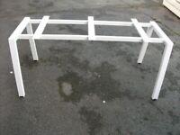 Heavy Duty Metal Table Frame . White colour .Size : H=73cm , W=162cm , D=61cm