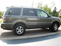 2007 Honda Pilot 4x4 EXL Low Km and Maintained With Care