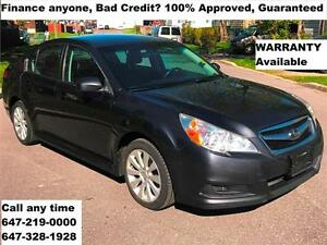 2011 Subaru Legacy 2.5i Ltd AWD 167,801km FINANCE 100% APPROVED