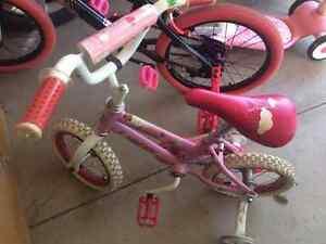 Huffy Bike with Ladybug Helmet - Battery Operated ATV