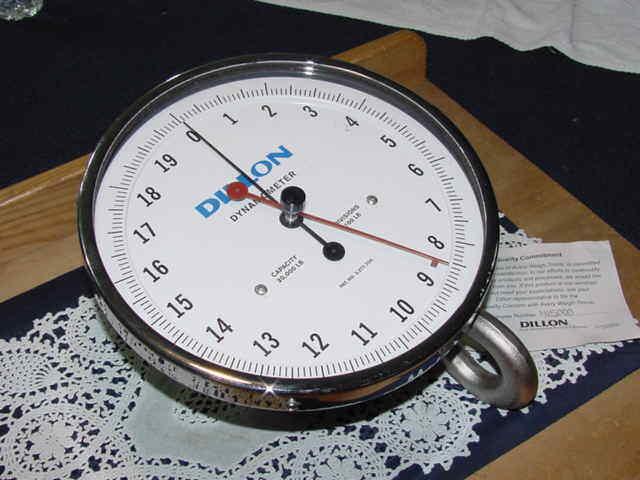 Dillon 30007-0109 AP Dynamometer, 10 Inch Diameter Face, 20,000 LB, NEW!