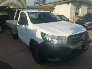 2016 Toyota Hilux TGN121R Workmate 4x2 White 5 Speed Manual Cab Chassis Underwood Logan Area Preview
