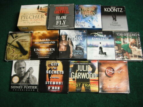 LOT OF 13 AUDIOBOOKS ON CD BOOK UNABRIDGED UNBROKEN DARK WOLF BLOW FLY MOMMYWOOD