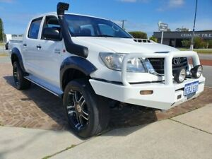 2014 Toyota Hilux KUN26R MY14 SR (4x4) White 5 Speed Automatic Dual Cab Pick-up Wangara Wanneroo Area Preview