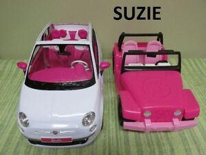 2 Véhicules pour Barbie...((Auto Fiat à $15))..((le Jeep à $10))